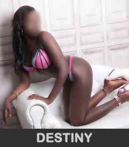 Destiny is a British Nigerian stunner with an incredible toned size 8 body, big 34D boobs and beautiful long shapely legs.